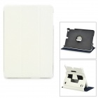 Protective PU Leather + PC Flip Open Case w/ Stand for IPAD Mini / IPAD Mini 2 - White