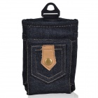 Stylish Portable Qi Standard Wireless Charging Denim Bag - Black