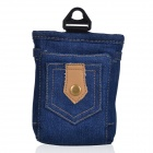 Stylish Portable Qi Standard Wireless Charging Denim Bag - Deep Blue
