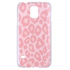 High Quality Impressionism Pattern Protective Plastic Hard Case for Samsung Galaxy S5 - Light Pink
