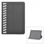 KWEN ioa00 Protective Flip Open PU + Plastic Case w/ Card Slots / Stand for IPAD AIR - Black + White