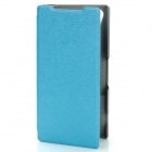 Protective PU Leather + PC Case Cover Stand for Sony Xperia Z2 - Blue