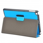 Protective 2-Fold PU + Plastic Case w/ Stand for IPAD AIR - Light Blue