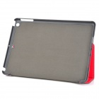 Protective 2-Fold PU + Plastic Case w/ Stand for IPAD AIR - Red