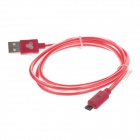 Universal USB 2.0 Male to Micro USB Male Data Sync / Charging Cable for Phone - Red (100cm)