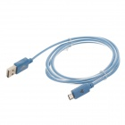 Universal USB 2.0 Male to Micro USB Male Data Sync / Charging Cable for Phone - Blue (100cm)