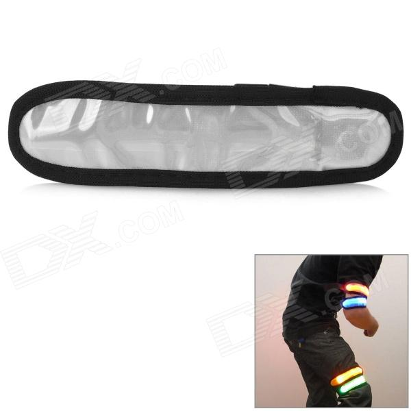 Universal Cycling LED 3-Mode Safe Armband - Black + Silver (2 x CR2032)