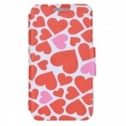 Kinston Love Kiss Drawing Pattern PU Leather Case Cover w/ Card Slots for Samsung Galaxy S3 i9300
