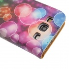 Kinston Colorful Bubbles Drawing Pattern PU Leather Case Cover for Samsung Galaxy S3 i9300 - Black
