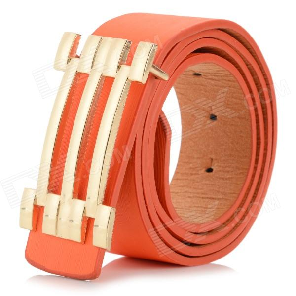 DIR-072 Fashion PU Waist Belt - Orange + Golden