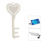 Portable Key Shaped Universal Mobile Phone Mount Holder Stand - White