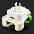 Creative Backpack Style US Plug Power Charger - White + Translucent Green
