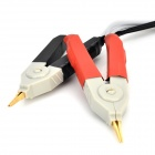 Test Clip Probe for LCR Meter with 2 BNC Wires - Black + White + Multi-Colored