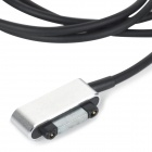 Magnetic USB 2.0 Charging Cable for Sony Z1 + More - Black+Silver (1m)