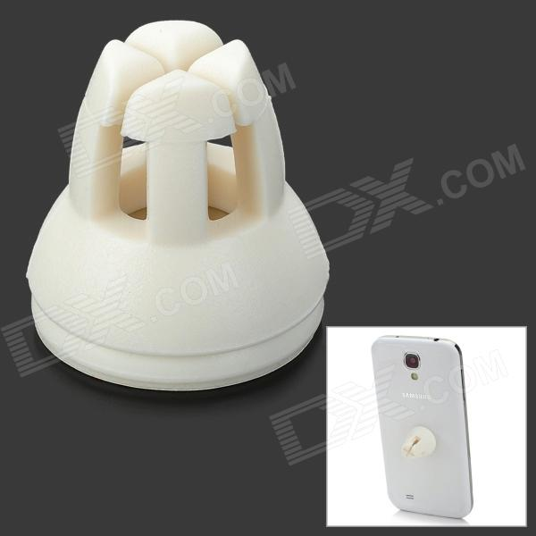 Udilis U1 Mini Portable ABS + Magnet Holder for Cellphone, GPS, MP4 - White