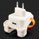 Creative Backpack Style US Plug Power Charger - White + Translucent Orange