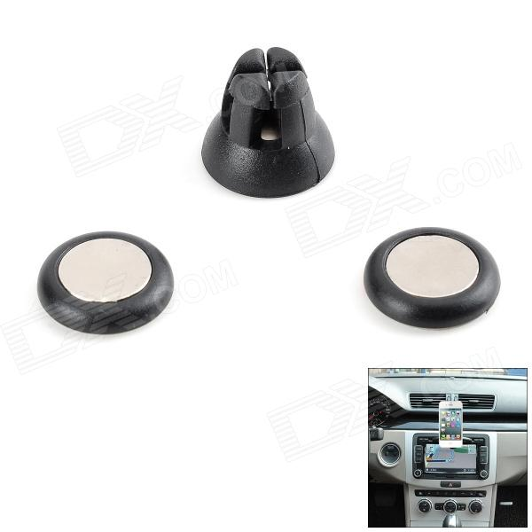 Udilis U1 Universal Magnetic Car Outlet Holder Stand + Sticker Set - Black