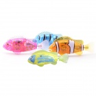 ROBO Flash Transparent Electronic Pet Toy Robot Fish 4 Pieces/Set- Blue+Pink+Orange+Cyan (8 x L1154)