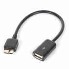 Micro USB 3.0 9pin OTG Data / Charging Cable for Samsung Galaxy S5 - Black (20cm)