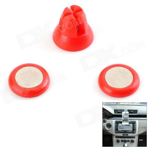 Udilis U1 Universal Magnetic Car Outlet Holder Stand + Sticker Set - Red