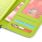 Stylish Flip-open PU + TPU Case w/ Holder + Card Slot + Strap for Samsung S5 - Black + Green