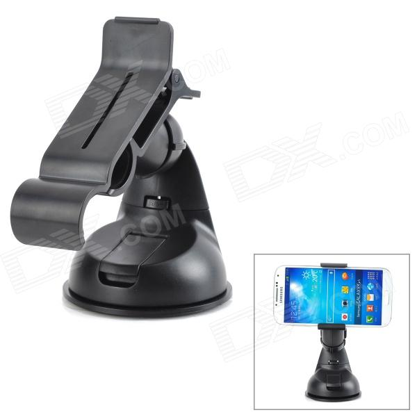 ZEA3-12-1JZ Universal ABS Rotary Desktop Cellphone Holder w/ Suction Cup - Black universal car suction cup mount bracket holder stand for samsung galaxy note 3 more black