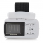 "1.35"" LCD Bluetooth V2.0 Car Steering Wheel MP3 Player w/ Mini USB / TF - White + Black"