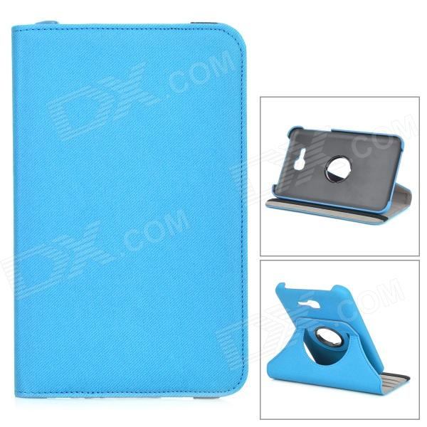 Protective PU Leather Case w/ Card Slot / Stylus Pen for Samsung GALAXY Tab 3 Lite T110 - Blue protective pu leather case w stylus pen for samsung tab 3 7 0 t210 t211 p3200 p3210 orange