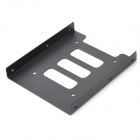 "Aluminum Alloy Desktop Computer 2.5"" to 3.5"" SSD / HDD Mounting Adapter Holder - Black"