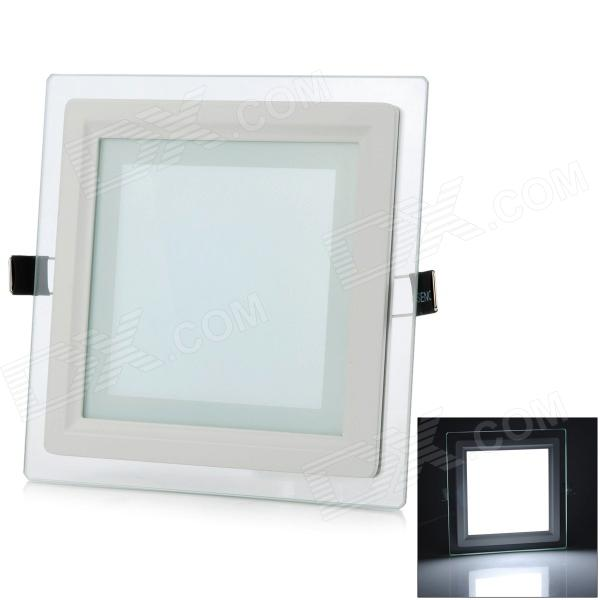 LSON G-12W 12W 1000lm 6000K 24-5730 SMD LED White Panel Lamp - White (AC 85~265V) lexing lx r7s 2 5w 410lm 7000k 12 5730 smd white light project lamp beige silver ac 85 265v