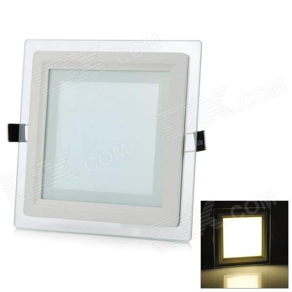 LSON 12W 1000lm 3000K 24-5730 SMD LED Warm White Panel Lamp - White (AC 85~265V)