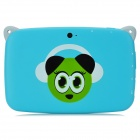 "R430W Cartoon Pattern Android 4.4 Tablet PC w/ 4.3"" Screen, Wi-Fi, ROM 2GB - Blue + White"
