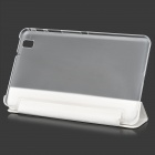 Protective PU Case w/ Stand for 8.4'' Samsung Galaxy Tab Pro T320 / 321 - White + Transparent