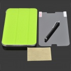 Protective PU Case w/ Stand + Screen Protector for Samsung Galaxy Tab 3 Lite T110 / T111 - Green