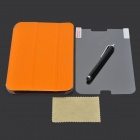 Protective PU Case w/ Stand + Screen Protector for Samsung Galaxy Tab 3 Lite T110 / T111 - Orange