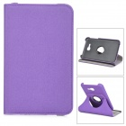 PU Flip Open Rotary Case w/ Card Slots for Samsung Galaxy Tab 3 Lite T10 T111 - Purple + Black
