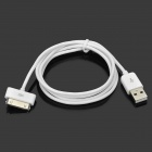 MFi Huntkey 30-Pin Male to USB 2.0 Male Sync / Charge Cable for IPHONE / IPAD / IPOD - White (100cm)