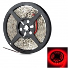 UltraFire 72W 3000lm 635nm 300-5050 SMD LED Red Light Strip - Black + White (DC 12V / 5m)