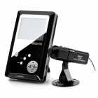 "S-What KT708 + C-200 2.7"" LCD Monitor + 2.4GHz Wireless CMOS 3.0MP Camera / DVR Set w/ TF - Black"