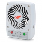 GT825B Portable USB Mini Travel 7-Blade Fan w/ 5V 1A USB Output - White (18650)