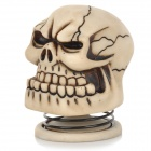 Cool Skull Style 5W 3.5mm Jack Multimedia Speaker - Off-White + Black