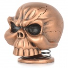 Cool Skull Style 5W 3.5mm Jack Multimedia Speaker - Bronze + Black
