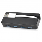 206 Portable High Speed 5Gbps 4-Port USB 3.0 Hub - Black