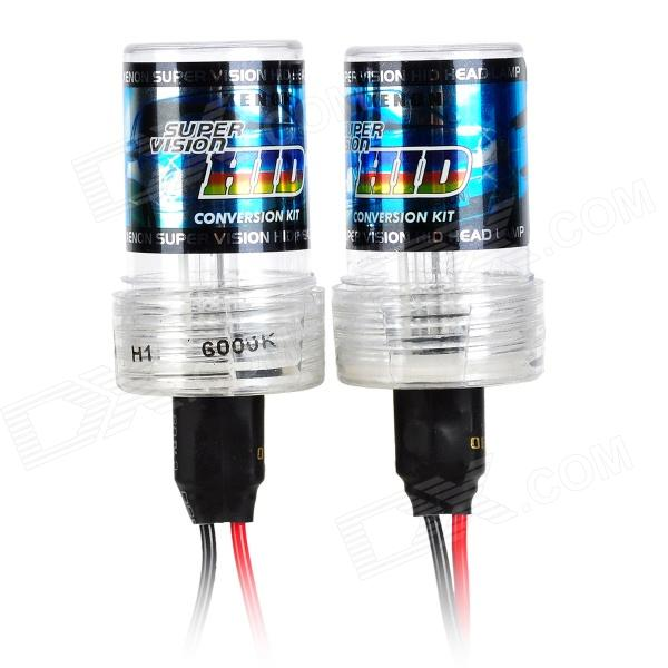 H1 55W 3200LM 6000K Decoded HID Ballast Xenon Light Set for Car - Golden (2 PCS)