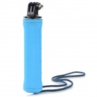 Rubber + Aluminum Alloy Monopod Handle w/ Mount Adapter for Camera / DSLR + More - Blue + Silver