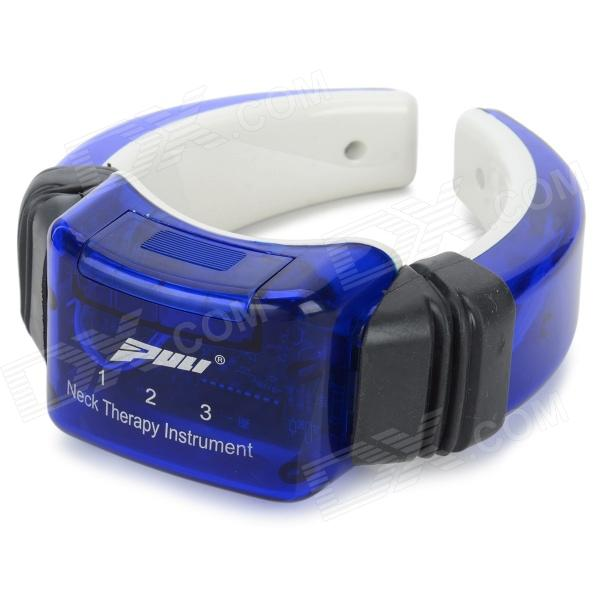 PL 718B Portable Neck Therapy Massager Instrument - Blue + Black (2 x AAA) Sunnyvale Prokupka products