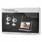 "860+706U 7"" LCD 1.0MP Wireless Baby Monitor w/ 24-IR LED - Black + Silver"