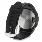 TW320S Stylish Water Resistant Sports QVGA Smart Wristwatch Phone Supports Android / IOS - Black