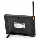 "860+706X2 Wireless 7"" LCD Monitor w/ Antenna + 1.0MP CMOS Surveillance Cameras w/ 24-IR LED - Black"