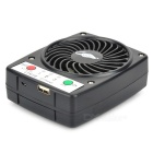 GT825B Portable 5V 1A USB 2.0 Powered 7-hoja 3-el modo Mini ventilador - negro (1 x 18650)